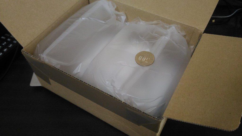 箱を開いた姿